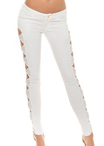 Koucla Pantalón Mujer Pantalón Para Blanco Koucla 6xwW4fdp