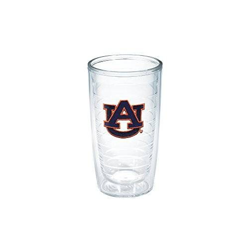 Tervis 1006696 Auburn University Emblem Individual Tumbler, 16 oz, Clear