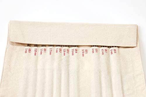 addi FlexiRoll Canvas Case for FelixFlips Knitting Needles, Natural Color by FlexiRoll (Image #1)