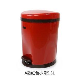 Dustbins Xiuxiutian The plastic foot latrines health living room kitchen bedroom dustbin 5.5L, red