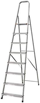 Escalera Tijera Plegable 8 Peldaños en Aluminio. Escadote 8 degraus. Hecho en Europa: Amazon.es: Bricolaje y herramientas