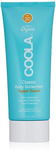 COOLA Organic Body Lotion | Broad Spectrum SPF 30 | Ultra-Hydrating | Reef Friendly | Sheer and Lightweight | Unscented | Water Resistant | Tropical Coconut