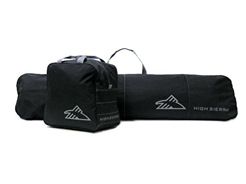 High Sierra Snowboard Sleeve & Boot Bag Combo, Black