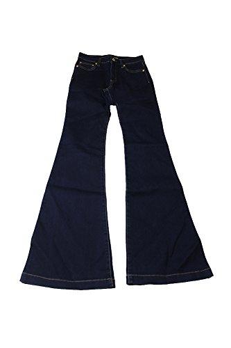 Zipper Pocket Denim Flare Pant - 7