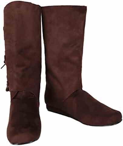 0a047184cf5 SharpSpirit Peasant Medieval Halloween Costume Viking Mens Boots