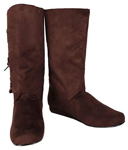 SharpSpirit Peasant Medieval Halloween Costume Viking Mens Boots L Brown]()
