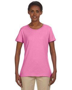 Jerzees Ladies' 5.6 oz.; 50/50 Heavyweight Blend� T-Shirt - AZALEA - XL (T-shirt Heavyweight Youth Azalea)
