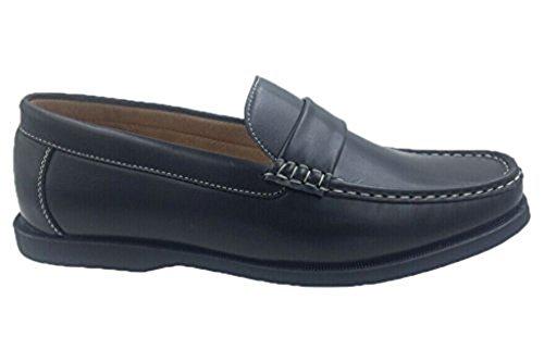Andrew Fezza Af-1966 Fbm Sam Slip-on Veelzijdige Loafer Schoenen Voor Heren Zwart