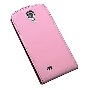 Genuine Leather Flip Case for Samsung Galaxy S4 I9500 --- COLOR:Red