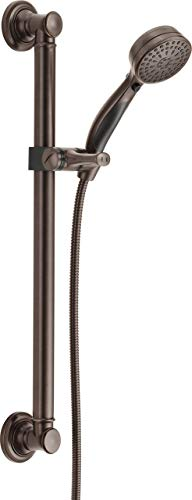 Delta Faucet 9-Spray ADA-Compliant Slide Bar Hand Held Shower with Hose, Chrome 51900 (Certified ()