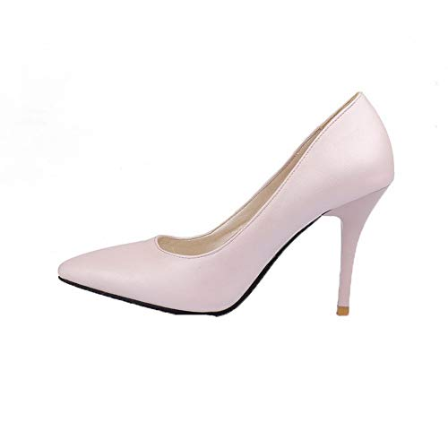 Rosa Allhqfashion Tirare Fbuidd007050 flats Puro Alto Donna Luccichio Ballet Tacco qwHzfq