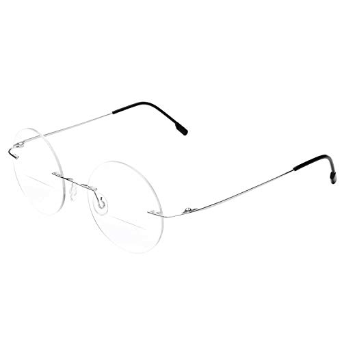 Round Rimless Bifocal Reading