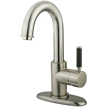 Kingston Brass Fs8438dkl Kaiser 4 Inch Center Single Handle Lavatory Faucet With Push Up Drain