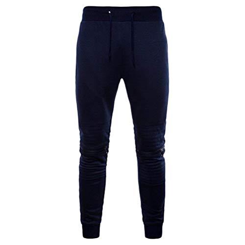 Entrenamiento Cordón Jogging Battercake Blau Navy Juvenil Moda Color De Cómodo Deportivos Corte Sólido Y Pantalones Con La Delgado Recto nnwZf