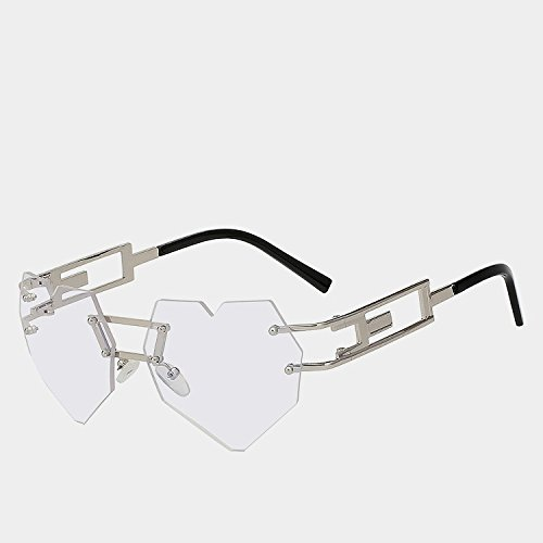 alta Silver morado w W elegantes calidad corazón matices clear Gafas UV400 la reborde oro sol amarillo de de del femenina gafas gafas de de mujer moda de TIANLIANG04 xUFS4w
