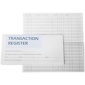 amazon com transaction register checkbook register with 2018 2019
