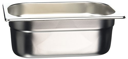 Stainless Gastronorm Pan (Vogue Stainless Steel 1/4 Gastronorm Pan 100mm)
