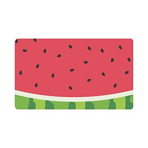 InterestPrint Watercolor Watermelon Slices Funny Fruit Doormat Anti-Slip Entrance Mat Floor Rug Indoor/Outdoor/Front Door Mats Home Decor, Rubber Backing Large 30