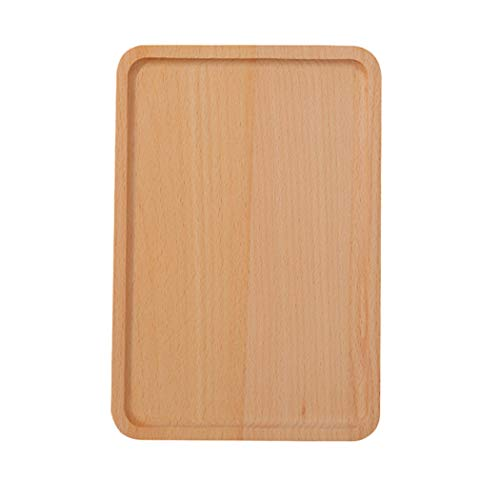 Practical Cutlery Restaurant Round Corners Serving Tray Kitchen Beechwood Tableware Dessert Dinner Plate - Beechwood Tray Cutlery