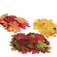 Super Bulk Pack Autumn Mixture of 500 Artificial Colorful Fall Leaves