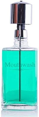B0001LQSKE The Perfect Measure Mouthwash Dispenser Lead-Free Crystal with Chrome Pump 31y9GS9WaQL