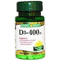Iu 100 Tabs (Nature's Bounty D3-400 Iu Tablets Vitamin 100 Ct Thank you to all the patrons We hope that he has gained the trust from you again the next time the service)