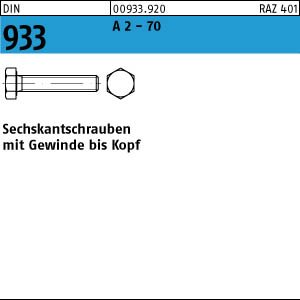 1 Edelstahl V2A Sechskantschrauben DIN 933 A2-70 M10x160