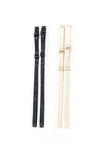 - Replacement Bra Straps Set of 2 Black & Nude 8 w