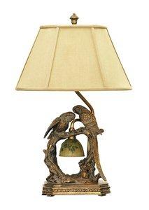"Dimond Lighting 91-507 Twin Parrots 2-Light Traditional Table Lamp, 11"" x 25"", Atlanta Bronze from Dimond Lighting"