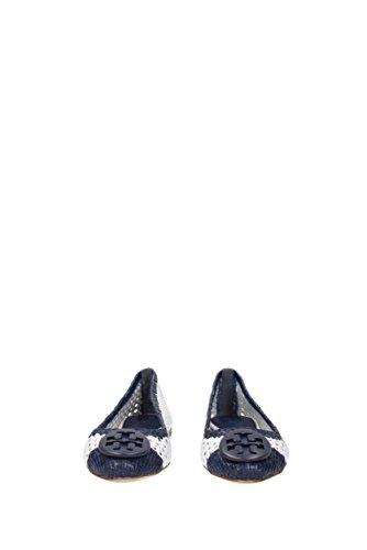 Tory Burch Ballet Flats Pasadena Woven Ballet Women - Leather (35489) UK Blue UQ4OVgy
