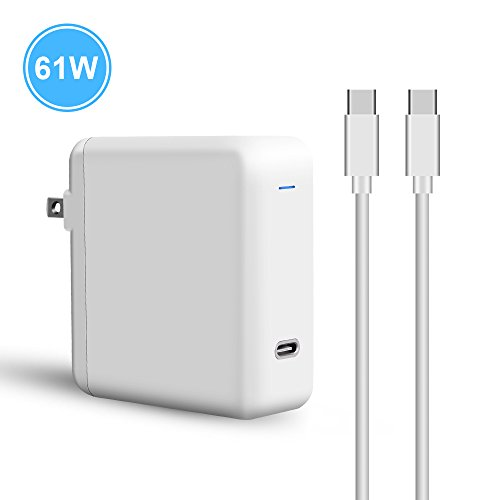 T ATHINK 61W USB C Power Adapter Compatible with MacBook Pro 13 inch/15 inch, White