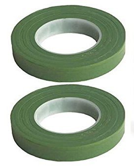 """Mutli Color Rainbow Green Floral Tape Stem Wrap Gum Paste 1/2"""" X 30 Yards 180 Feet Total w/ Flower Crafting eGuide (2 Pack, Green)"""