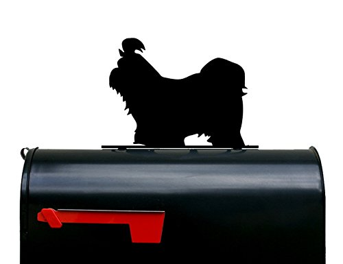 Shih Tzu Dog Silhouette Mailbox Topper / Sign by NewnanMetalWorks