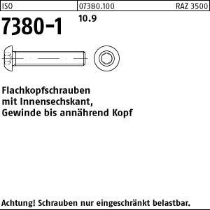 500 Inbus Linsenkopfschrauben ISO 7380-1 10.9 schwarz M4x16