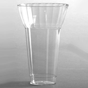 Plastic Parfait Glasses Crystal Cut 12 oz 20 per