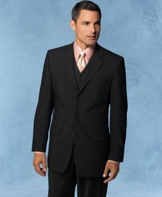 Alfani Suit Separates Black Wool 3-Button Suit Jacket (42 Short)