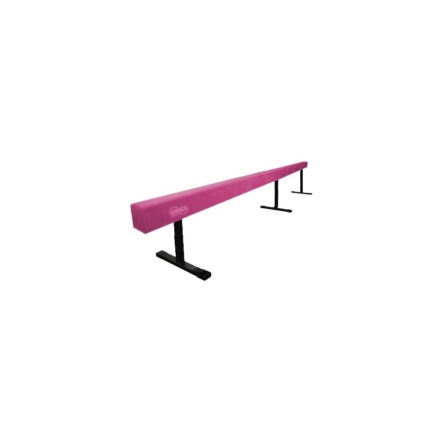 Nimble Sports Pink 18in High 12ft Long Gymnastics Balance Beam