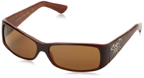 Black Flys Louis Flytton Wrap Sunglasses,Mocha Brown,60 - Black Flys Sunglass