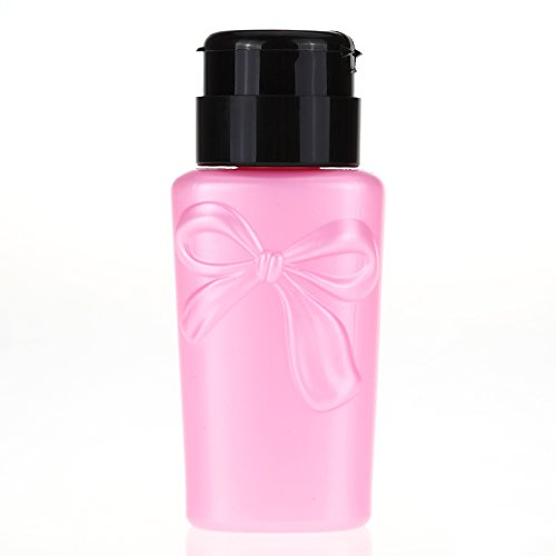 jieping-230ml-refillable-empty-nail-press-pump-bottle-plastic-polish-remover-cleaner-dispenser-pink