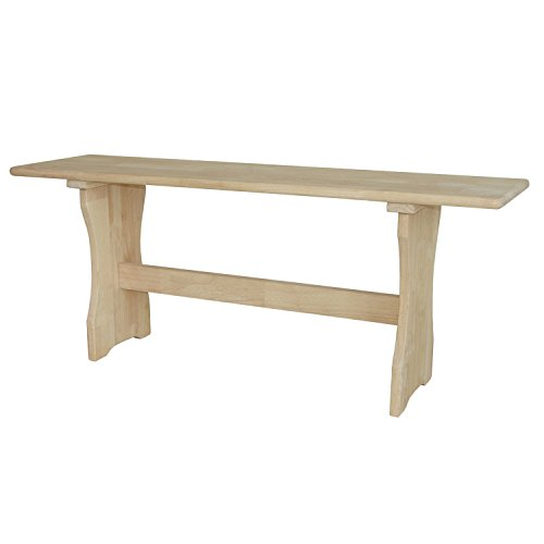 International Concepts BE-4312 Trestle Bench, Unfinished