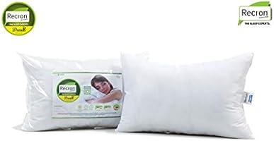 "Recron Certified Dream Fibre Pillow - 17""x27"", 2-Piece, White"