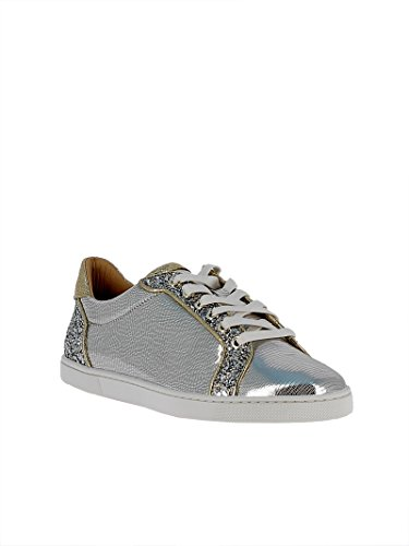 Christian Louboutin Women's 1180104CN1H Silver Leather Sneakers sale get to buy discount price clearance good selling OOiMVKF3v