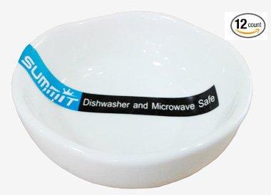 Super White Scallop Shape Porcelain Sauce Dish (12 Count) (2.75