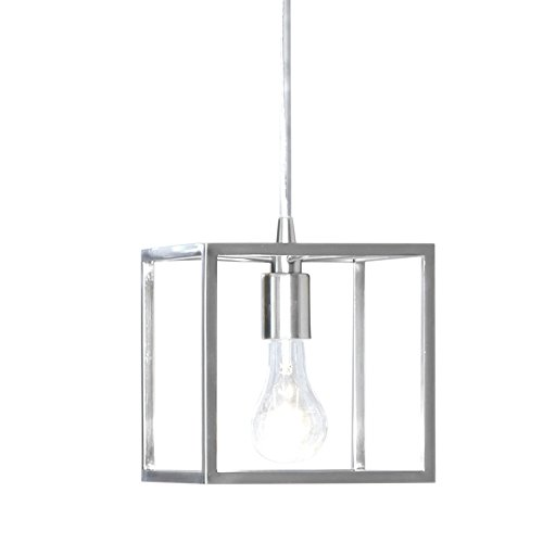 - Style Selections Arctura 7.01-in Brushed Nickel Industrial Mini Cage Pendant