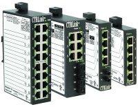 EISK8-100T | Contemporary Controls | 8-port 10BASE-T/100BASE-TX Skorpion switch, DIN-rail mount