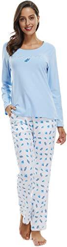 Women Pajama Set Christmas PJs Long Sleeve Top & Pants Sleepwear