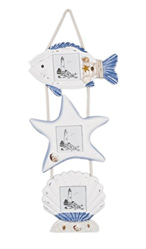 Attraction Design Nautical Fish Star Shell Photo Frame Wall Hanging