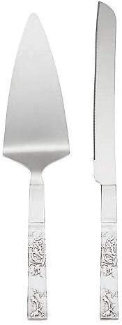 0.65 LB Metallic Lenox Silver Peony 2-piece Dessert Set