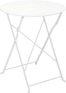 Gartentisch Holz Weiß Vintage.Amazon De Milanari Gartentisch Rund Vintage Eisentisch
