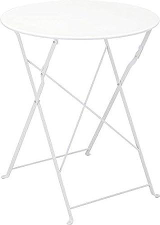 Metall Bistrotisch O 60 Cm In Weiss Platz Sparend